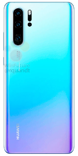 Huawei P30 Pro на официальных рендерах