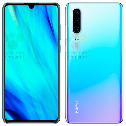 Huawei P30 на официальных рендерах