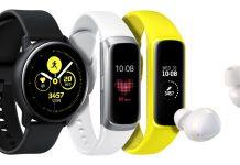 Galaxy Watch Active, Galaxy Fit и Galaxy Buds - три новых носимых устройства от Samsung